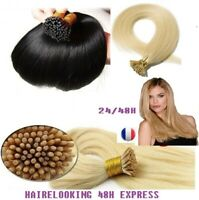 50 100 150 EXTENSIONS POSE A FROID CHEVEUX 100% NATURELS  REMY 53CM  0.5G 48H