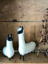 Ooak Handmade Mother & baby Llamas
