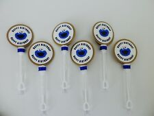 Cookie Monster. Happy Birthday Bubble Wands Party Favor SET OF 10