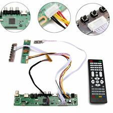 TV Universal LCD LED Screen Controller Board DIY Monitor Kit + Remote Control