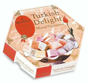 *OFFER* 250g Mixed Flavour Turkish Delight Lokum Gift Sweets Christmas New year