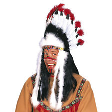 Copricapo Indiano Headdress Nativi Americani Piume Carnevale Indian Hat 3081L