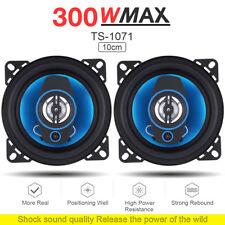 2x 4 Inch 300W Car Speaker 2 Way Car HiFi Audio Coaxial Stereo Loudspeaker 12V