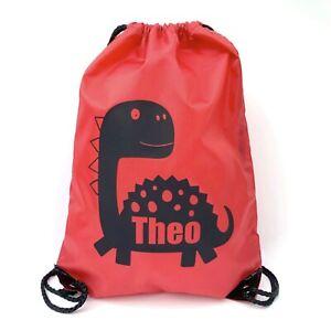 Dinosaur Personalised Pe bag,Personalised School Bag,Personalised drawstring bag