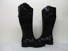 Seychelles Black Leather Zip Knee High Riding Boots Womens Size 6.5