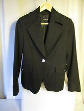 veste blazer MASSIMO DUTTI coton/élasthane  noire taille 40