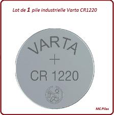 1 pile bouton CR1220 lithium Varta Industrielle, livraison rapide et gratuite