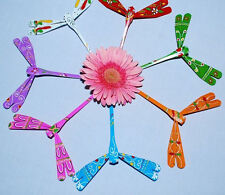 Dragonfly Bamboo Hand Carved Painted Self Balancing Gift Wooden Toy Vietnam New