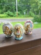 Cherished Teddies Easter Eggs 2007 Dated Abbey Press 1996 & 2002