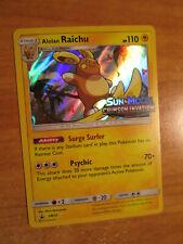 LP PRERELEASE Pokemon ALOLAN RAICHU Card BLACK STAR PROMO Set SM72 Holo CRIMSON