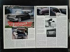1957 Oldsmobile Station Wagon  - 2 Page Article - Free Shipping
