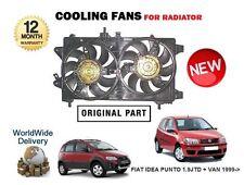 Per FIAT IDEA + PUNTO 1.9 JTD + Van 1999 - > NUOVO RADIATORE VENTOLA DI RAFFREDDAMENTO 51708726