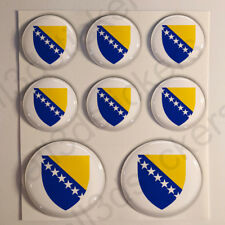 Pegatinas Bosnia y Herzegovina Escudo de Armas Vinilo 3D Relieve Pegatina Bosnia