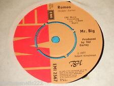 "VINYL 7"" SINGLE - MR BIG - ROMEO - EMI 2567"