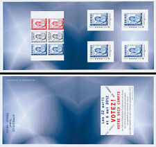 "Collector Booklet 4 Perso stamps ""Marianne BLUE - Presidential Election"" 2012"