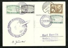 GERMANY, PIONEER ROCKET MAIL 1933 -   Card  EZ 4A1,4A2,3A1