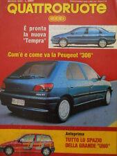 Quattroruote 449 1993  - Test Peugeot 306 - Fiat Uno - Fiat Tempra  [Q37]