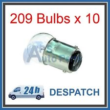 10x 209 12 V 5 W BA15d Bombilla de cola de lado de SBC doble contacto único filamento Coche Furgoneta