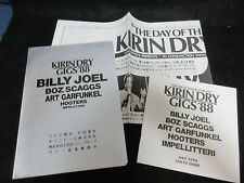 Kirin Dry Gigs 88 Japan Promo Book Press Release Billy Joel Boz Scaggs Garfunkel