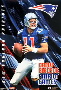 Drew Bledsoe PATRIOT GAMES (1993) New England Patriots NFL POSTER