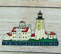 Vintage Suncatcher Point Judith RI Lighthouse Window Decoration Ornament