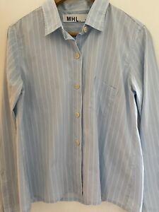 MHL Margaret Howell Blue And White Stripe Shirt