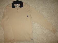 National Safety Apparel Shirt FR Long Sleeve Polo HRC 2 Mens L Flame Resistant