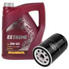 5 Liter Mannol Extreme 5W40 Motoröl + Motor Ölfilter Anschraubfilter SCT Germany