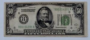 1928 - $50 Federal Reserve Note - Well Circulated