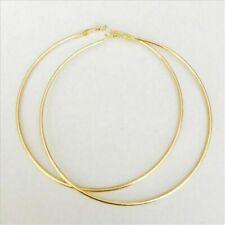 Women Gold Silver Large Round Hoop Earrings 4-10cm Shiny Huge Big Hoop Earring