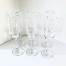 """Set of 6 Schott Zwiesel 9"""" Tall Crystal Champagne Flutes Glasses"""