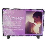 Personalised Memories Rock Slate Photo Frame - Rectangle Large