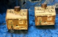 2 Vintage 1984 Absolutely Pure Maple Syrup collectible 1/2 L Tins Free shipping!