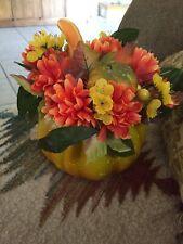 Avon Halloween Harvest Floral Pumpkin Centerpiece New in Box NIB Unused 2008