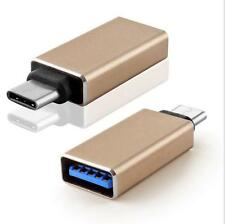 Gold Type C Male to Type A USB 3.0 Female Adapter for 2015 Apple Macbook 12""