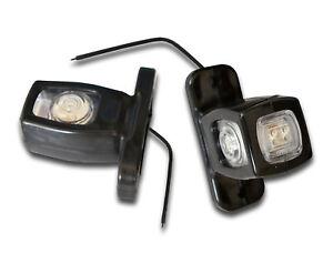 2 x 12V 24V LED TRIPLE SIDE MARKER OUTLINE LIGHTS TRUCK LORRY VAN BUS TRAILER
