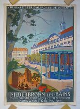 Original Vintage NIEDERBRONN-LES-BAINS French Affiche Railroad Travel Poster