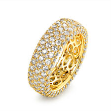 Sevil 18k Gold Plated Cubic Zirconia Eternity Band Ring Cocktail Jewelry