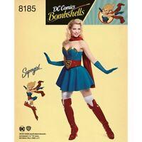 Simplicity Pattern 8185 Misses' D.C. Comics Bombshells Supergirl H5 6 - 14