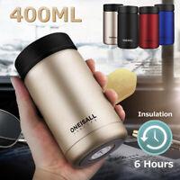 400ml Stainless Steel Vacuum Flask Water Bottle Gifts Office Coffee Mug Cup