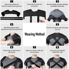 Kuangmi Shoulder Brace Support Double Wrap Protector Compression Strap Belt Band