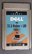 3com EtherLink III LAN +Modem PC Card for 10BASE-T & 33.6 Modem P/N: 16-0068-001