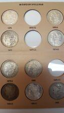 34 Coins-1878 to 1890s Morgan Silver Dollar Set with 11 BU includes BU1884 CC