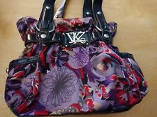 KATHY VAN ZEELAND Purple Paisley Handbag Purse Shoulder Bag