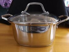 New listing Dutch Oven New Parini Platinum Series 4.5 Qt Square Covered Stainless Steel Cook
