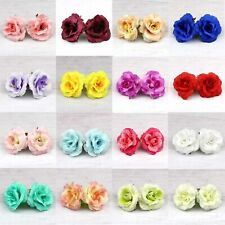 50Pcs Silk Rose Flower Head for DIY Wedding Party Bridal Hair Accessories 5cm