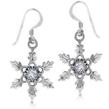 Hook Natural Topaz Sterling Silver Fine Earrings