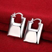 18K White Gold Plated Large Handbag Earrings FAST FREE SHIPPING