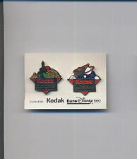 pin badge KODAK collection EURO DISNEY 1992 set two pin 020gi
