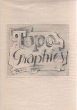 FLOCON Albert, Topo-graphies. Essai sur l'espace du graveur. Lucien Scheler 196